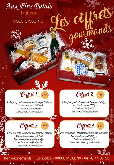 Coffrets Gourmands Noël 2020